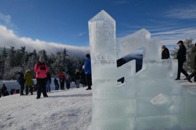Ledové sochy na Pustevnách 2021