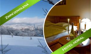 Zima v Beskydech na hotelu Horal