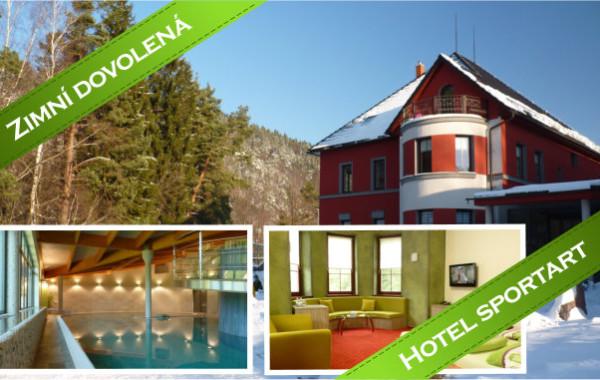 Zimní dovolená s luxusním ubytováním v hotelu Sportart