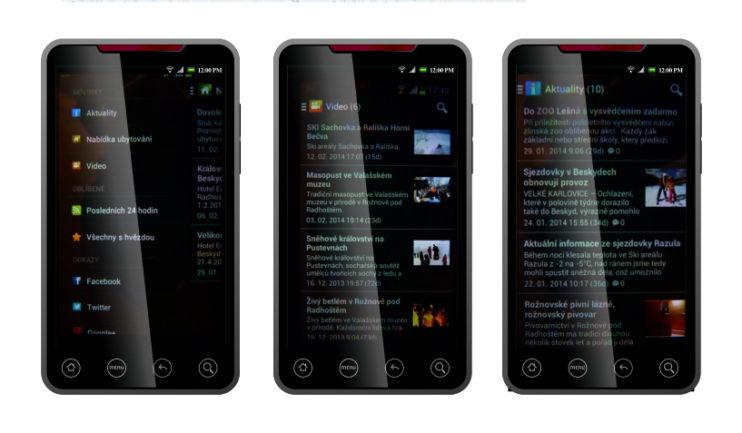 Ogárkova aplikace pro chytré telefony