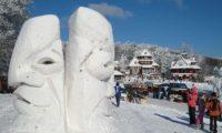 Ledové sochy na Pustevnách i v Rožnově
